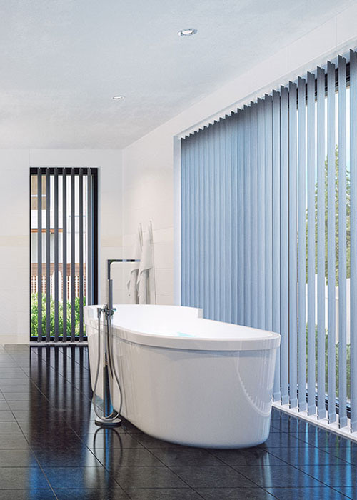 vertical blinds and shutters